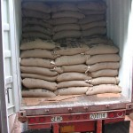 A 20-foot container with 330 bags of coffee valued at $200,000 to $300,000 US.