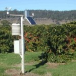 Weather station linked to irrigation controls in Australia.